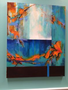 Completely interesting abstract painting - each time you look something else appears.