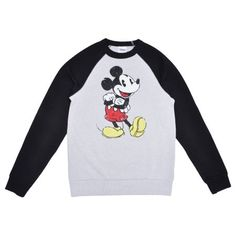 Disney Men's Mickey Mouse Distressed Pullover Sweatshirt Gray - Walmart.com