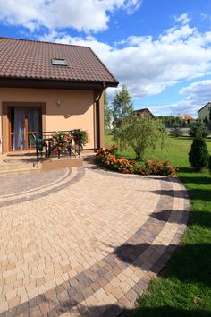 Driveway Paving, Pool Houses, Backyard Patio, Pathways, Garden Landscaping, Sidewalk, Home And Garden, Landscape, Interior Design