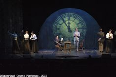 Banks Office with Clock Projection Mary Poppins Theatre, Mary Poppins Broadway, Mary Poppins Musical, Mary Poppins Costume, Set Design Theatre, Children's Theatre, Radium Girls, Banks Office, Christmas Carol