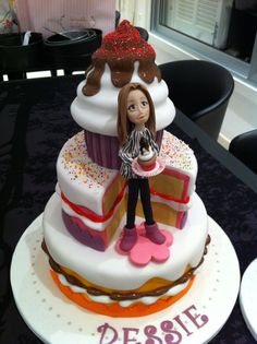 """- A """"cake"""" cake for a teenager"""