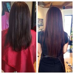 Before and after of babe extensions! Told you they are amazing!!!#hair#kayshairr