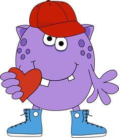 Boy Monster Holding a Heart