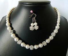 Wedding Pearl Jewelry Set  Bridal Swarovski Pearl by LynJewels, $54.00