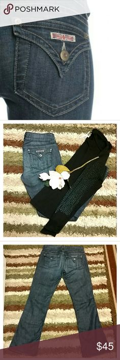 🌸Hudson🌸 Gorgeous Hudson triangle flap pocket jeans. Very flattering on, these jeans make your butt look AMAZING!! Hudson Jeans Jeans