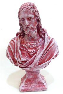 Ateliê Le Mimo: RELIGIOSO  Sagrado Coração de Jesus busto Peça em gesso
