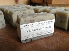 Rosemary Mint, All Natural Soap, Handmade Soap Bars on Etsy, $6.00