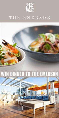 Win Dinner at The Emerson  *expires July 31  #Win #Dinner #Emerson #SouthYarra #Melbourne #Outdoor #Rooftop #Restaurant