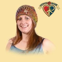 Ventura Highway Natural and Colored Hemp Headsock Hat with Bone Mushroom Button