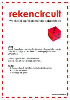 Rekencircuit: optellen met de dobbelsteen www.eliseinonderwijsland.nl