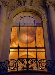 cool shot through window of Le Petit Palais, Paris