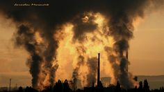 Air pollution - factory Mondi at town Ruzomberok, Slovakia Canon Photography, Urban Photography, Climate Change Effects, Air Pollution, Global Warming, Mother Earth, Stock Photos, Instagram Posts, Image