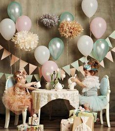 The cutest tea party by Snazziedrawers featuring Tutu du Monde Twinkle tutu in eggshell, Fairy Tutu skirt in aqua and Cream Puff caplet in off-white. Via www.tutudumonde.com
