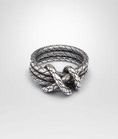 Intrecciato Antique Silver Ring