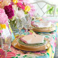Lilly Pulitzer tablescape