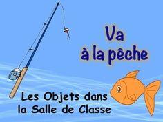 French Classroom Vocabulary Game (Va à la pêche-Go Fish)