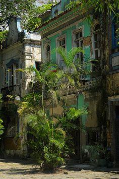 Colonial style buildings, Rio de Janeiro, Brazil