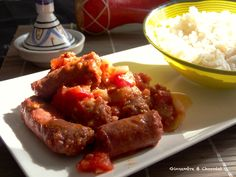 rougailmerguez2 Sausage, Steak, Beef, Pork, Cooker Recipes, Outer Space, Sun, Meat, Sausages