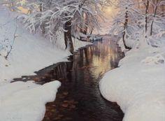 Jay Moore. Winter-Twilight 30 x 40 2011