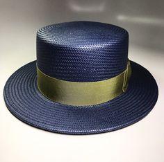 Mens Dress Hats, Boater, Unique Outfits, Hats For Men, Grosgrain, Men's Hats, Mens Fashion, Navy, Contemporary