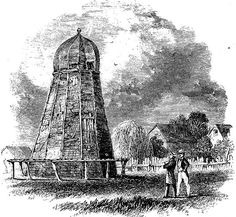Sketch of the first windmill at the Red River Settlement, belonging to Robert Logan, circa 1860. Source: Archives of Manitoba, Red River Settlement 5, N13831l from Manitoba History: Who was the Father of Robert Logan of the Red River Settlement?