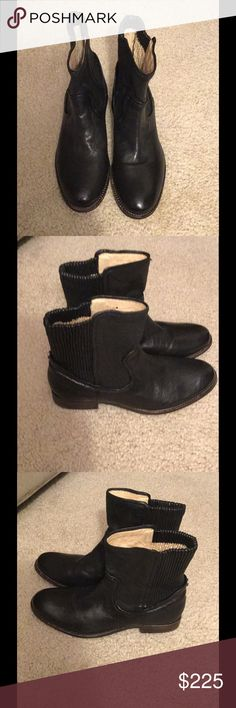 NWOB, Frye, Melissa Scrunch Short, Black, Size 6.5 NWOB, display model (minor scuffs on soles)  Size: 6.5M/TTS Color: BLACK $225(OBO)/Retails for $498 Add a little edge to your style with the Melissa Scrunch Short boot by Frye®. Antique soft full-grain leather upper. Ridged collar-like shaft for a touch modern style. Smooth leather lining for a more comfortable fit and feel. Lightly cushioned footbed offers added underfoot comfort. Durable leather outsole. Imported. Measurements: Heel…