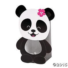 Panda Party Treat Boxes 12pk Party Supplies Canada - Open A Party