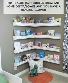 Rain gutter reading corner...wonder how it would hold up??