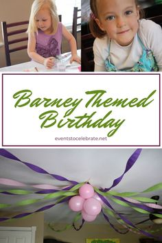 This is a perfect party for young kids! All these kids care about is having fun so here are several short activities to keep them engaged and having fun along with a few simple and inexpensive decoration ideas. Happy Birthday Banners, 3rd Birthday, Birthday Party Themes, Kids Party Games, Games For Kids, Diy Party, Party Ideas, Barney & Friends, Picture Letters