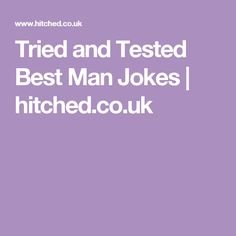 Tried and Tested Best Man Jokes | hitched.co.uk