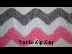 Cómo hacer ZIG ZAG Point to Crochet - Muy fácil - Punto # 5 - ganchillo - Knitting Stiches, Crochet Stitches Patterns, Crochet Patterns For Beginners, Knitting Patterns, Diy Crochet Halter Top, Easy Crochet, Punto Zig Zag Crochet, Crochet Baby Booties Tutorial, Braidless Crochet