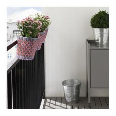IKEA SOLROSFRÖ plant pot with holder