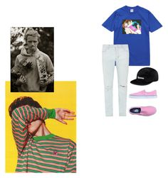 """Skater from Paris"" by aayeshaofficial on Polyvore featuring Golf Wang, Vans, Neuw denim, men's fashion and menswear"