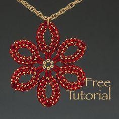 flower pendant    Мастер-классы: Схемы: Кулон Happy Holidays