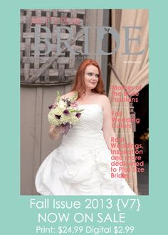 Happy 1st day of Fall!! Enjoy some fall bridal inspiration in our Fall Issue of Pretty Pear Bride Magazine {V7} #plussizebride #plussize