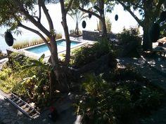 Full gardens to pool.