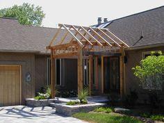 Gable Design Cedar Pergola - Design Ideas - Archadeck