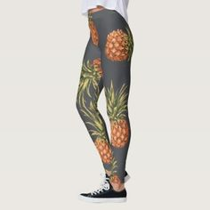 #Tropical Pineapple Pattern Leggings - #travel #trip #journey #tour #voyage #vacationtrip #vaction #traveling #travelling #gifts #giftideas #idea