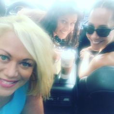Girls Road Trip remember the Mercedes suggested we stop for coffee @jeneontv @mariapoolephotography #rhonj #premiere #newjersey #roadtrip #tbt #coffee #mercedes #safe #ride #girlsjustwannahavefun