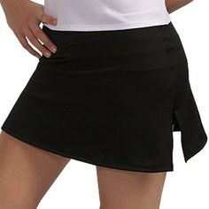 A-Line Tennis Skirt with Shorts and Slits A-Line. $9.95. Detailed stitching accents the 6-inch side slits, with built-in matching shorts for comfort and coverage.. Hottest new brand in the active wear and tennis market available at an amazing price.. 92% Micropoly 8% Lycra. Clean cut and cute, this A-line skort is a wardrobe staple, yet its assertive style is anything but basic.. Highest quality construction and fabric for the active lifestyle.. Machine Wash Cold. 3 inch ins...