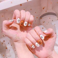 Cute Acrylic Nails, Cute Nails, Gel Nails, Nail Art Designs Videos, Cute Nail Art Designs, Stylish Nails, Trendy Nails, Nails Ideias, Asian Nails