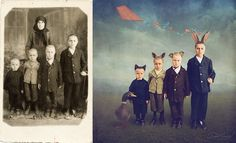 La fotógrafa y artista australiana Jane Long devuelve la vida a fotos antiguas de maneras hermosamente alocadas y creativas.