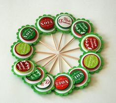 Christmas sayings cupcake toppers Cupcake Toppers, Cupcake Cakes, Cupcakes, Fondant Cookies, Christmas Quotes, Frost, Icing, Cake Decorating, Merry