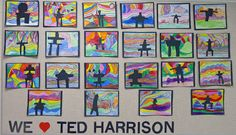 Painting in the style of Ted Harrison