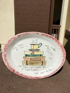 Ceramic plate! Books and tea!!!