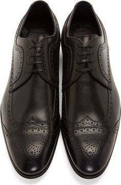 Dolce & Gabbana Black Leather Brogues