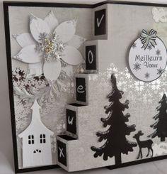 Tuto : Une carte escalier en 3D pour les fêtes - Papiers & scrapbooking - Pure Loisirs