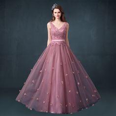 Lace Evening Dress,Beading Evening Dress,Charming Evening Dress,Long Evening Dress