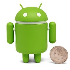 A little green action figure based on Android's android.