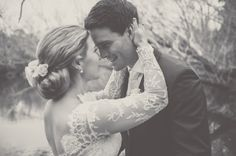 Jenna & Matt's wedding at Sault. Jenna wears a Suzanne Harward Couture Lace Gown